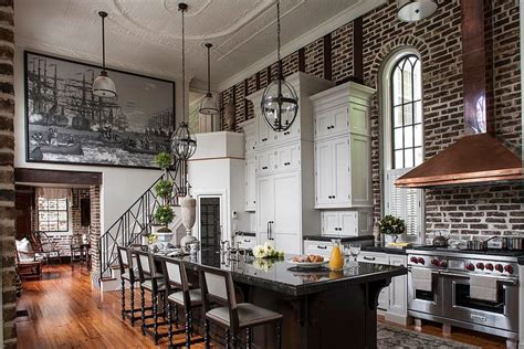 Kitchen House Charleston 50 Stylish And Timeless Kitchens With Gorgeous Brick Walls