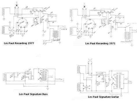 les paul recording wiring diagram image collections