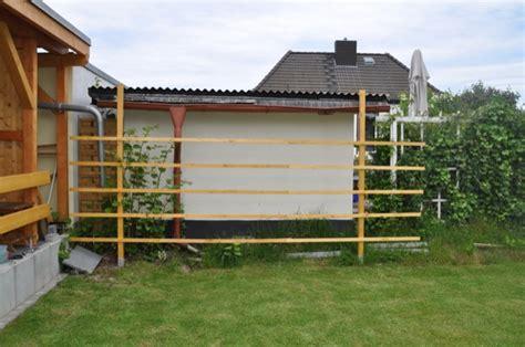 Moderner Sichtschutz Für Den Garten 1896 by Rankgitter Holz Selber Bauen Bvrao