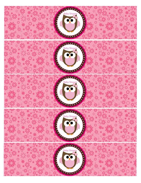 baby shower water bottle labels template origami owl ideas invitations ideas
