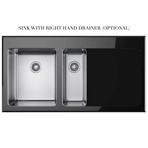 Black Glass Kitchen Sinks Franke Kubus Kbv 651 Black Glass 1 5 Bowl Inset Kitchen Sink 1010052397
