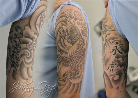 lighttouch tattoo traditional tiger gray wave tattoos japanese