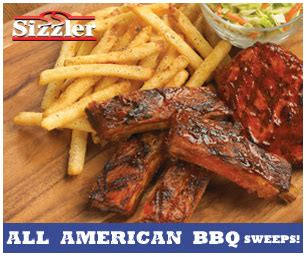 Sizzler Gift Card - sizzler all american bbq sweepstakes win a sizzler gift card for 1 075