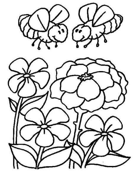coloring pages of flowers and bees bee and flower coloring pages coloring pages for