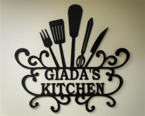 personalized kitchen wall custom metal signs