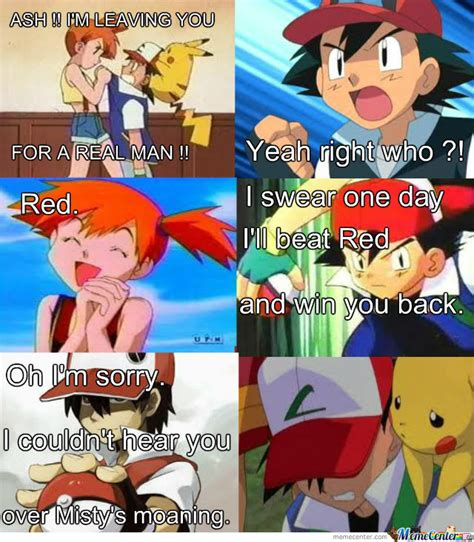 Pokemon Trainer Red Meme - ash vs red by omegashenron meme center