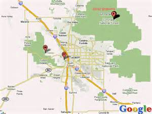 Tucson map toursmaps com 174