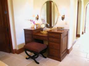 Makeup Vanity Set With Lights Wooden Makeup Vanity Furniture Set With Wall Sconce