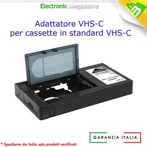 adattatore cassette vhs 38289 adattatore vhs per cassette videocamera vhs c