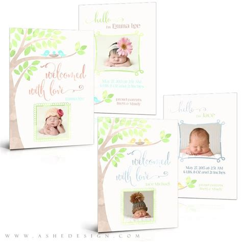 Baby Card Template Photoshop by 53 Best Newborn Photoshop Templates Images On