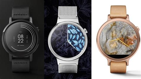 android wear watches 9 fashion brands release android wear faces