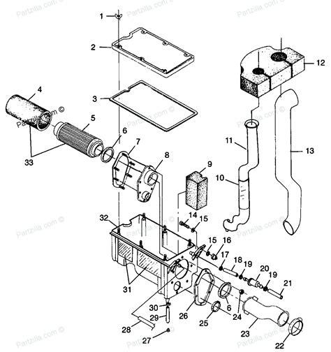 polaris sportsman 500 parts diagram polaris atv parts 1998 w98ch50ab sportsman 500 air box diagram