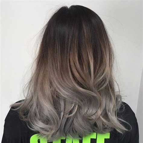 options for brunette greying hair ombre grey and balayage on pinterest