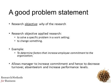 problem statement and research objectives mbb3724 business research methods ppt