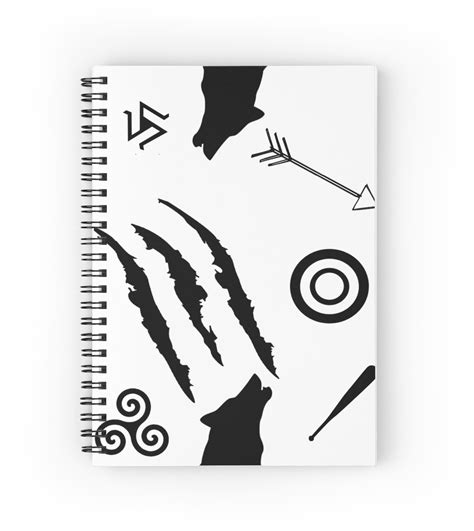 quot teen wolf symbols quot spiral notebooks by jordams124 redbubble