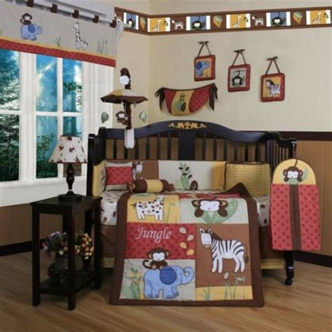 Animal Crib Bedding Set Geenny Boutique Jungle Animal 13 Crib Bedding Set Walmart