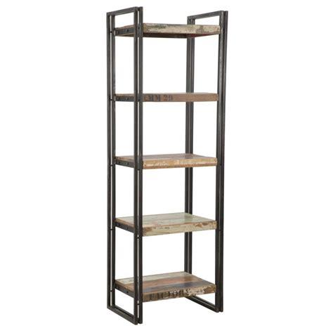 scaffale in ferro libreria scaffale in legno 5 ripiani e ferro stile