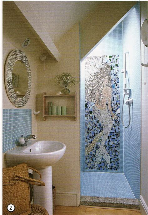 mermaid tile bathroom 25 best ideas about coastal bathrooms on pinterest
