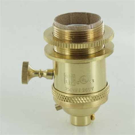 uno socket l base l parts polished brass uno threaded 3 way socket
