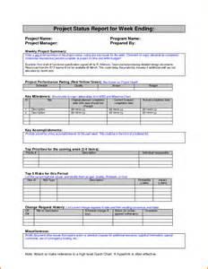 weekly status report template employee weekly status