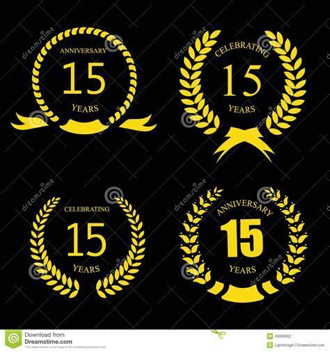 Celebrating 15 Years Anniversary   Golden Laurel Stock