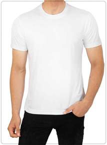 white neck t shirt