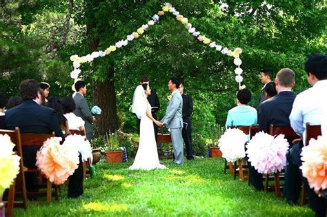 inexpensive backyard wedding ideas backyard wedding ideas cheap 99 wedding ideas