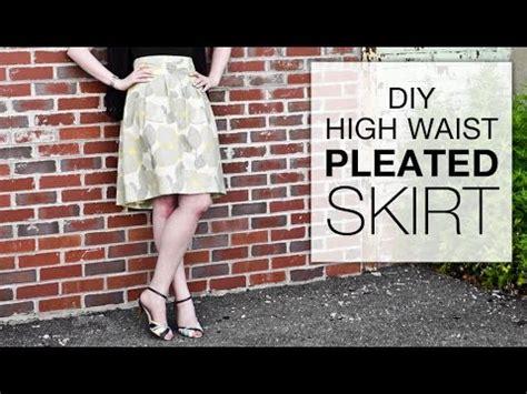 diy high waisted pleated skirt tutorial free pattern
