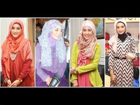 tutorial jilbab segi empat jaman now tutorial jilbab para artis cantik model terbaru spesial