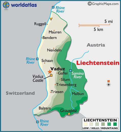 where is liechtenstein on a map map of liechtenstein principality of liechtenstein maps