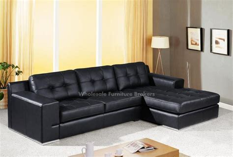 Black Leather Sectional Sofas Plushemisphere