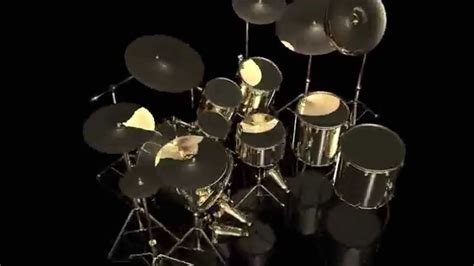 Kaos 3d Umakuka Drum Set 3d golden drum set hd