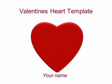 template powerpoint heart valentine s heart powerpoint template