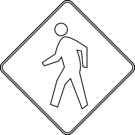 coloring pages of zebra crossing pedestrian crossing outline clipart etc
