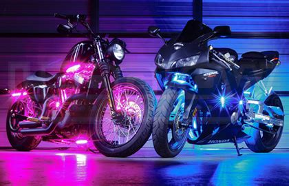 purple led light strips for motorcycles motorcycle led lights