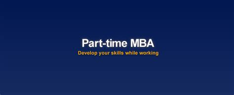 Part Time Mba Career Switch by Fresher Career Builder India