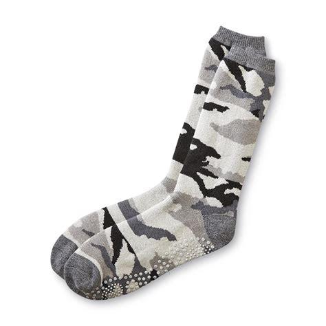 camo slipper socks joe boxer men s camouflage slipper socks