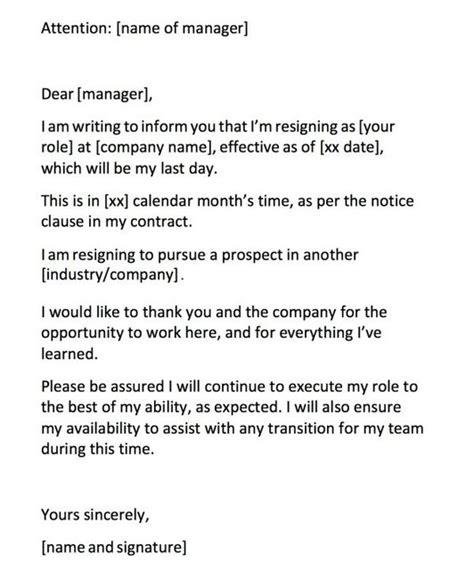 write resignation letter burn bridges