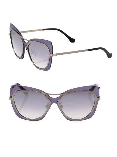Mirrored Butterfly Sunglasses lyst balenciaga 57mm mirrored oversized butterfly