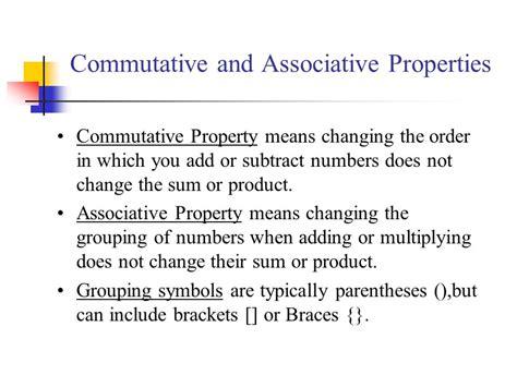 commutative and associative properties ppt video online