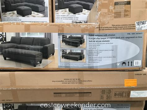 fabric sectional with storage ottoman fabric sectional with storage ottoman costco weekender
