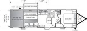 travel trailer hauler floor plans sandstorm model t270slr hauler travel trailer