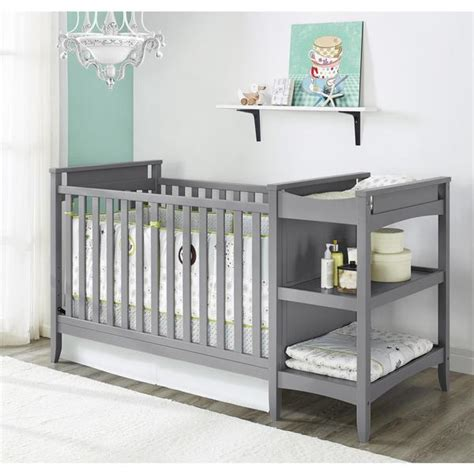 Cribs With Attached Changing Table Grey Crib With Attached Changing Table Recomy Tables Mounting Crib With Attached Changing Table