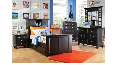 Belmar Bedroom Furniture Belmar Black 5 Pc Bookcase Bedroom