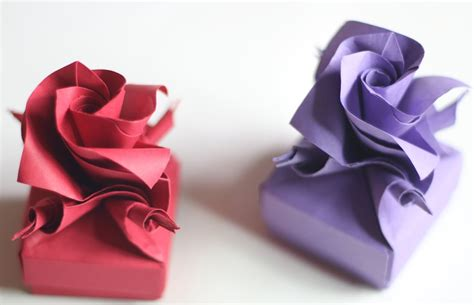 How To Make An Origami Flower Box - origami box www imgkid the image kid has it