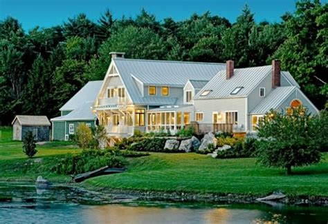 new england farmhouse new england farmhouse lake living pinterest