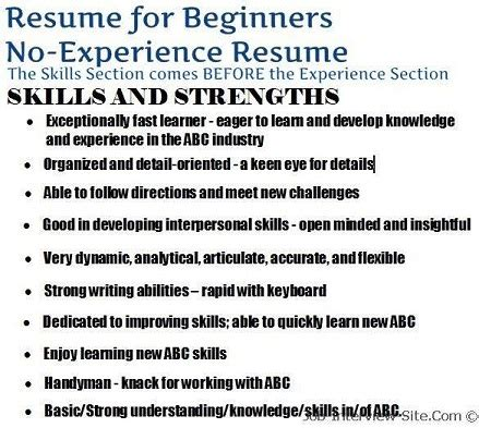 building your first resume