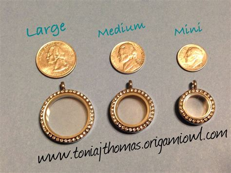 Origami Owl Large Locket Size - locket size comparison origami owl lockets