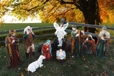 39 tall outdoor nativity set large creche figures for