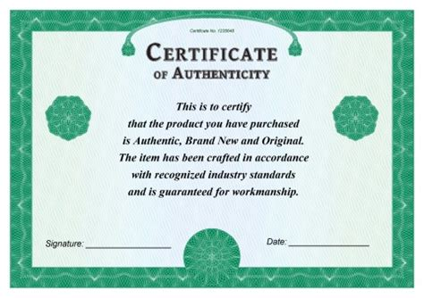 certificate of authenticity template how to create a